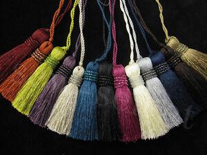 Milly-key-tassel-with-bead-trim-Decorative-tassel-in-13-cols-Fabric-tassel