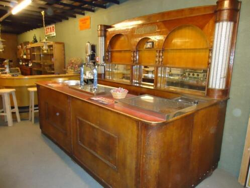 Antieke bar antieke cafebar antieke cafetoog uit belgie for Tweedehands meubilair