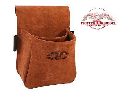 Protektor Model - 23b Suede Trap & Skeet Shooting Leather Bag - Made In Usa