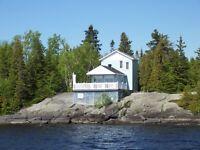 Chalet à louer sur une île (Grande-Décharge du Lac-St-Jean)