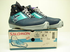 Vintage NOS  Salomon 461 SR X Cross Country Ski Boots Sz: 40 EUR / 7 US