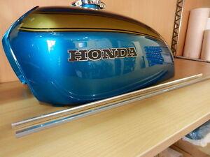 Honda CB 750 Four K0 Tankzierleisten Tankleiste Moulding Set Fuel Tank Top Repro