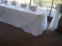 Reception Head/Cake/Backdrop -Complete Package...  Decor &  more