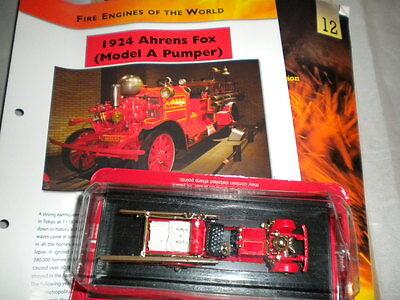 Del Prado World Fire Engines - Usa 1924 Ahrens Fox Pumper Boxed Issue 12