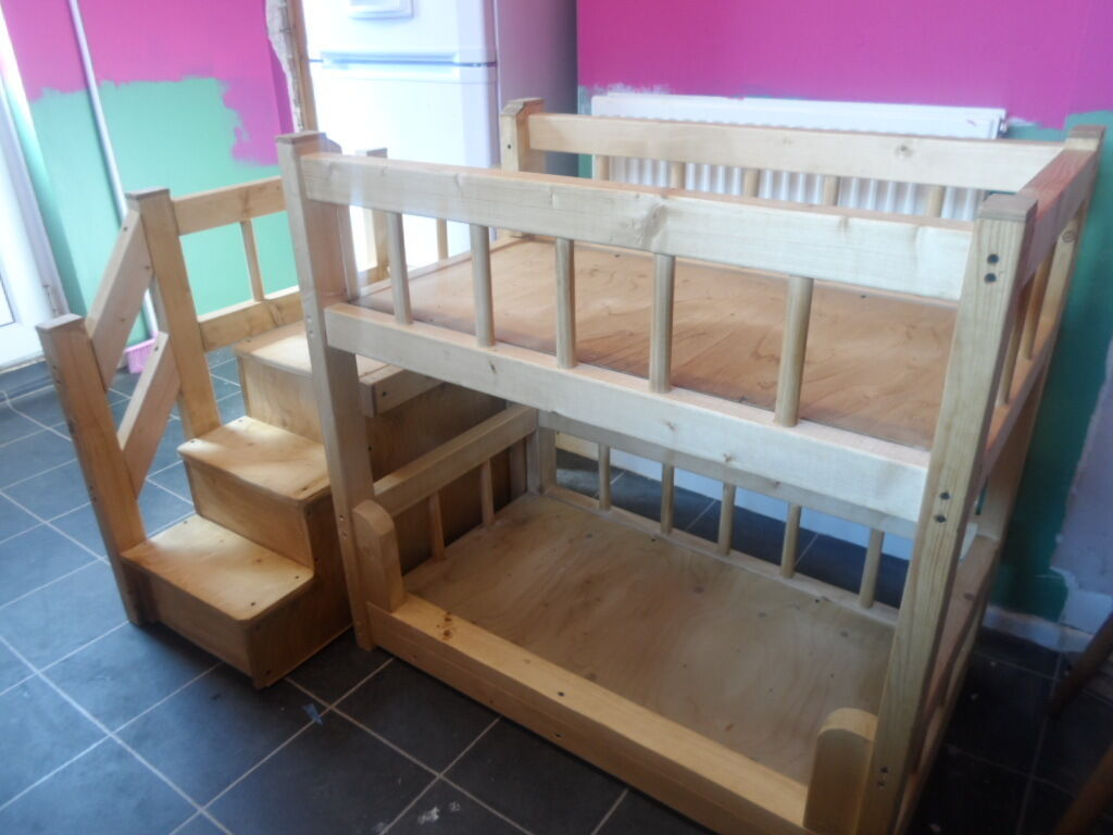 Made by wood cool bunk beds for sale on gumtree for Wooden bunkbeds