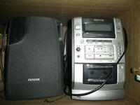 sony stereoanlage inkl cd player cassettendeck und ares. Black Bedroom Furniture Sets. Home Design Ideas