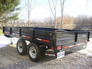 Remorque 6x10 doubles essieux noir