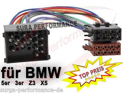 Auto-Radio Adapter Kabel für BMW DIN ISO 3er 5er Z3 E30 E34 E36 E39 E46 X5, gebraucht gebraucht kaufen  Hamburg