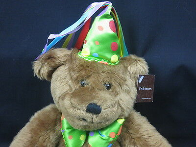 New Proflowers Teddy Bear Brown Polkadot Party Had Bow Birthday Plush Happy