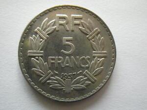 COPIE 5F 1937 de la RARE monnaie Lavriller NICKEL 5 franc 1937 REPLIQUE - France - Valeur faciale: 5 Francs - France