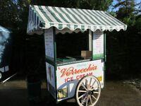 Ice-cream vendors needed for ice-cream carts in historical Cambridge