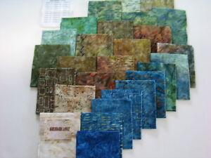 Sewing Fabric  Birchbark Lodge Batiks (27 Fat Quarters) Moda