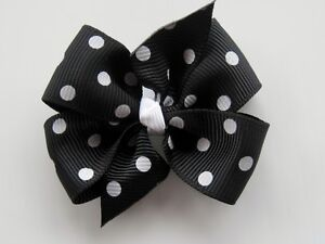"Girl hair bow Pinwheel~ size 2""~on lined mini alligator clip~ you pick the color"
