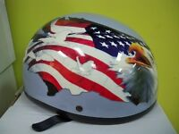 LIQUIDATION DEMI CASQUE  STYLE HARLEY D.O.T. $19.99! EAGLE XXL