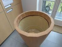 large plant pot natural looking untreated wood for indoors. as new...