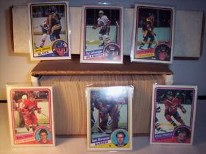 1983-84 + 1984 -85  O pee chee hockey cards sets