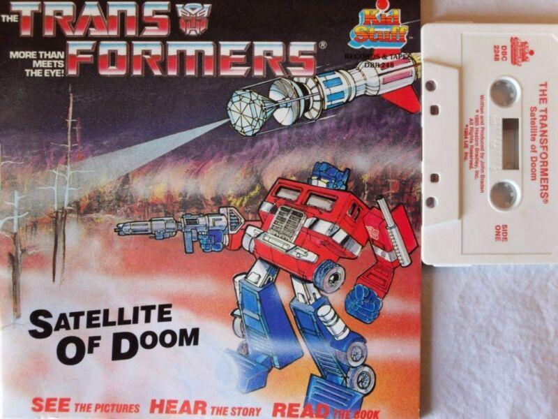 TRANSFORMERS SATELLITE DOOM DBR 248 Kid Stuff Read Along Book & Cassette Tape
