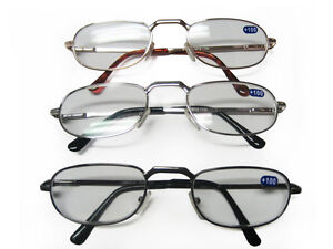 6 Pairs Metal Spring Loaded Australian Standard Reading Glasses +1 - + 4
