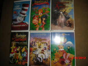 VHS pour enfants (6 titres) Gatineau Ottawa / Gatineau Area image 1