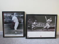 MICKEY MANTLE AND TED WILLIAMS BLACK AND WHITE PICTURES
