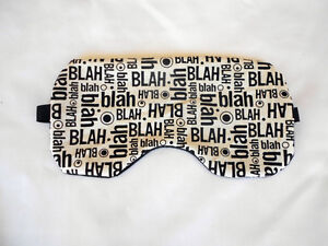 Eye Mask with Lavender & Linseed  - Black/White Blah Blah Blah