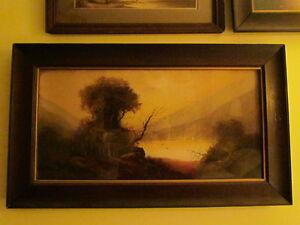 Chandler original pastels, framed