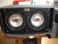 """2 - 10"""" mtx speakers in a mtx sledgehammer ported box"""