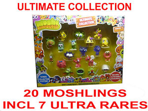 MOSHI MONSTERS Ultimate Collection 20 MOSHLING FIGURES ULTRA RARE Series 1 NEW