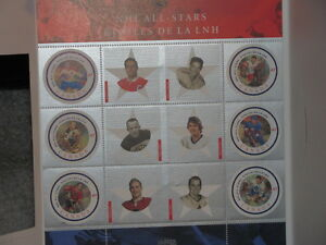 NHL ALL STARS WITH CANADA UNIQUE STAMP SOUVENIR SHEET