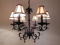 6-Light Dark Bronze Chandelier