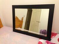 Lovely Large black framed modern mirror