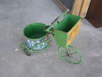 SUPER CUTE LICENSE PLATE BICYCLE PLANTER $50.00 !!