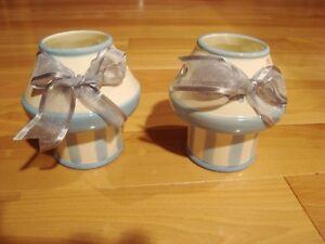 Set Of 2 Summer Dew Tea Light Holders by Cheri Lane - NEW