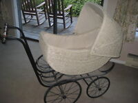 Vintage Wicker Carriage