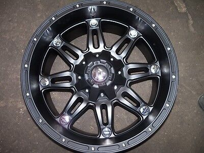 Fuel Offroad Hostage Black 20x10 Chevy Jeep Dodge Ford