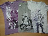 Hannah Montana Shirts T-Shirt Gr.140  2x 152 Nordrhein-Westfalen - Monheim am Rhein Vorschau