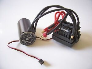 HPI Trophy Flux Truggy Brushles System Regler 101712 / Motor 101713  - Neu