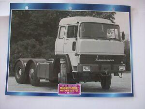 Carte fiche camion tracteur cabine avancee magirus deutz for Cabine rocciose md cabine