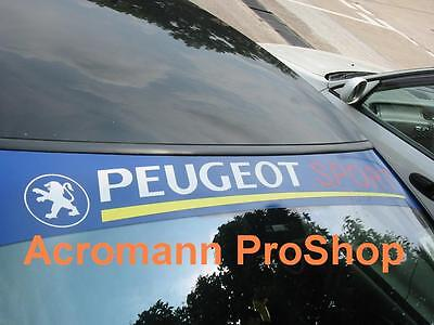 53 peugeot sport windshield sun strip decal sticker 106. Black Bedroom Furniture Sets. Home Design Ideas