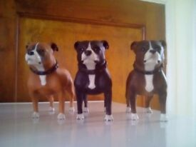 Staffordshire bull terriers ornaments