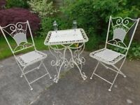 Lovely Metal Table & Chairs (Free Delivery)