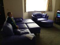 corner sofa with swivle chair