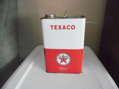 Vintage TEXACO Oil 1 Gallon Metal Oil Can