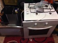 Oven hob an extractor good condition white