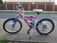 Girls Bike in Pink & Blue