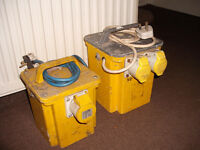 110 volt step down transformers have two one 750va and 3300