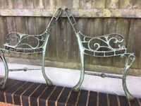 1 Pair Of Cast Iron Garden Bench Ends 17.50 / 4 Matching Sets Available