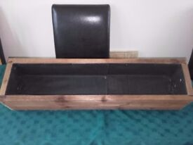 1000 mm long,Wooden Garden Planter, Wood Window Box, Patio Planter