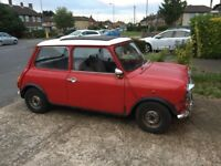 1972 Mini 1000 Project. TAX exempt, MOT exempt.