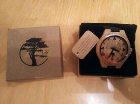 Visible Harvest Unisex Wooden Watch - Unique Sundial design